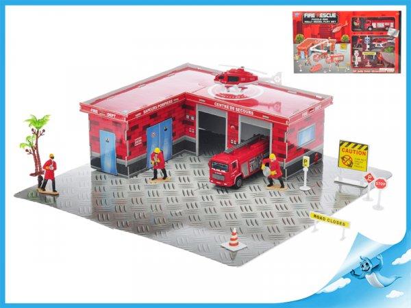 Skládací puzzle hasičská  stanice