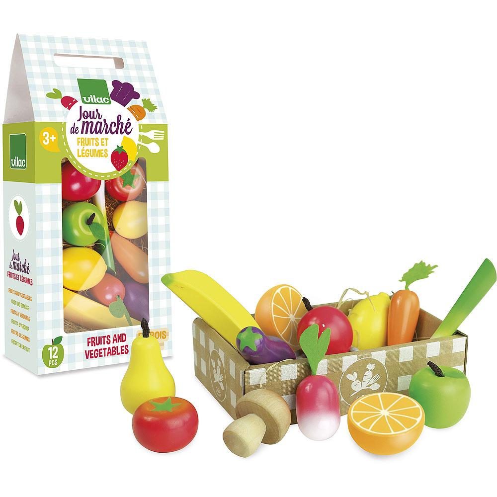 Vilac Dřevěný set ovoce a zelenina