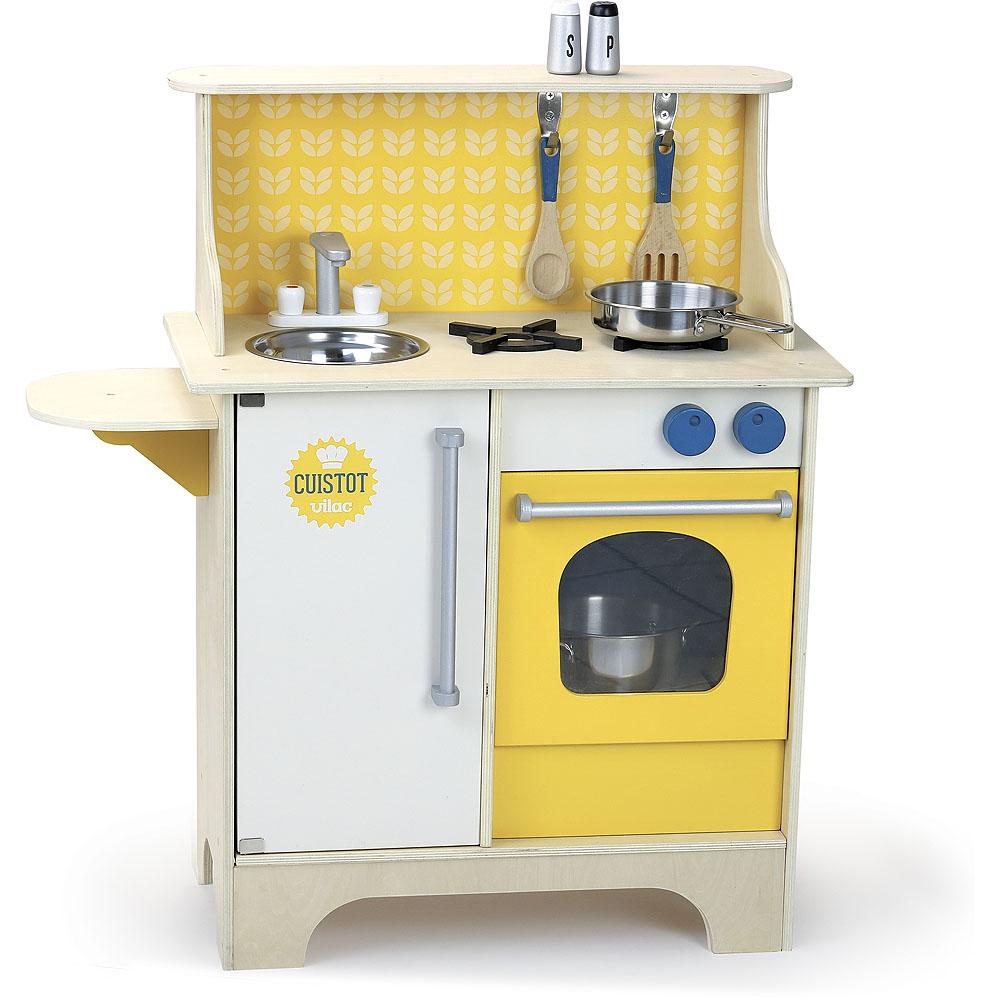Vilac Dřevěná kuchyňka Cuistot žlutá