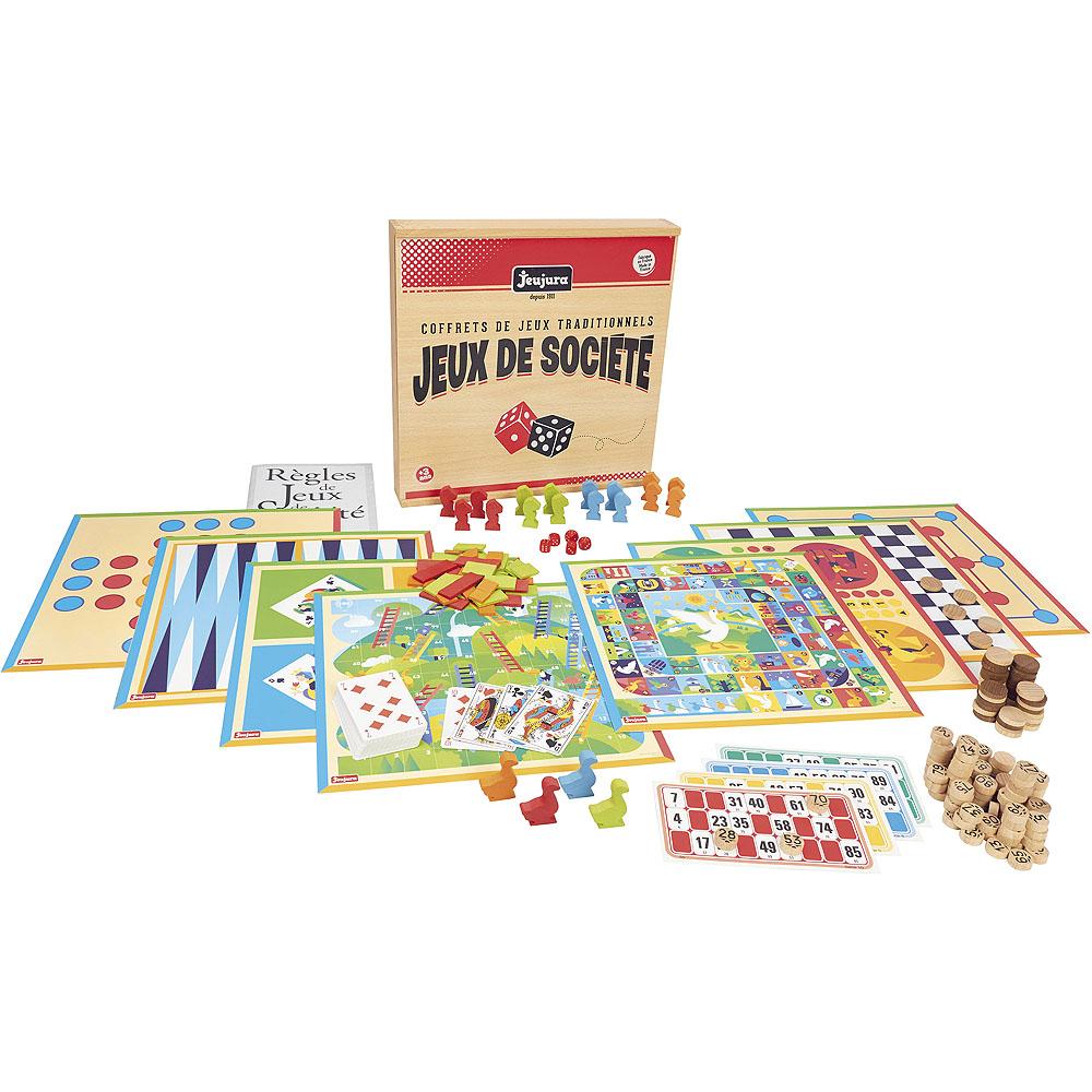 Jeujura Tradiční herní set v dřevěném boxu