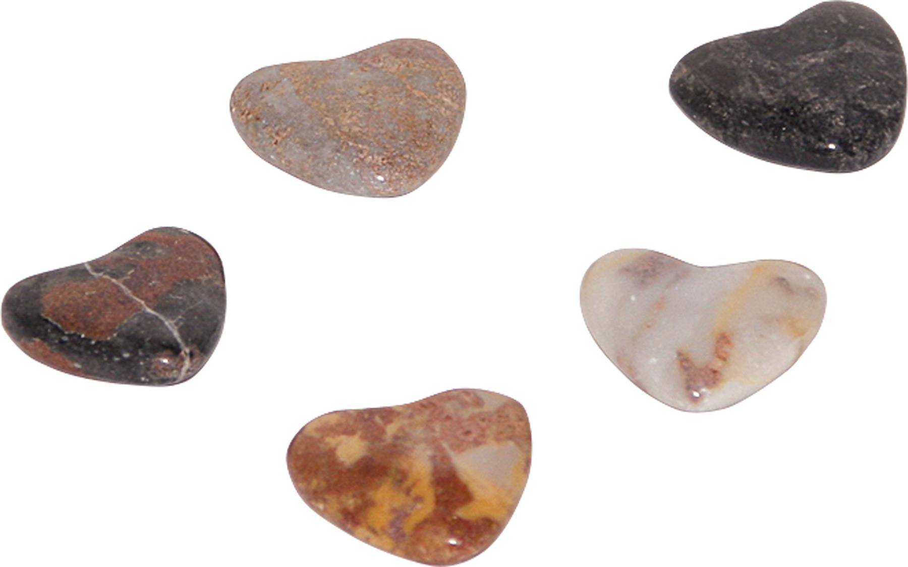Small Foot Přírodní leštěné kameny ve tvaru srdce 5 ks