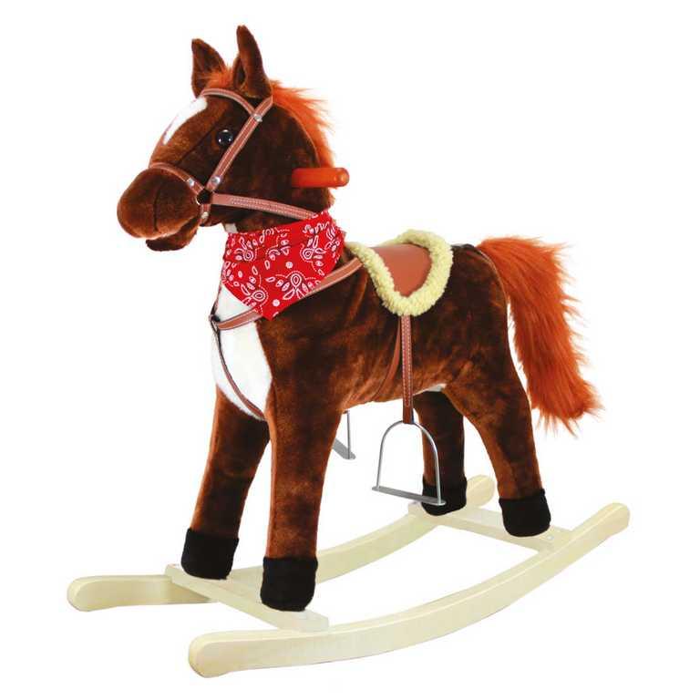 Bino Houpací kůň plyšový Goldy