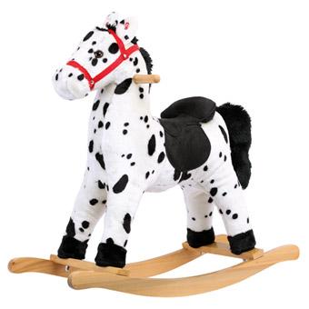 Bino Plyšový houpací kůň Grošák