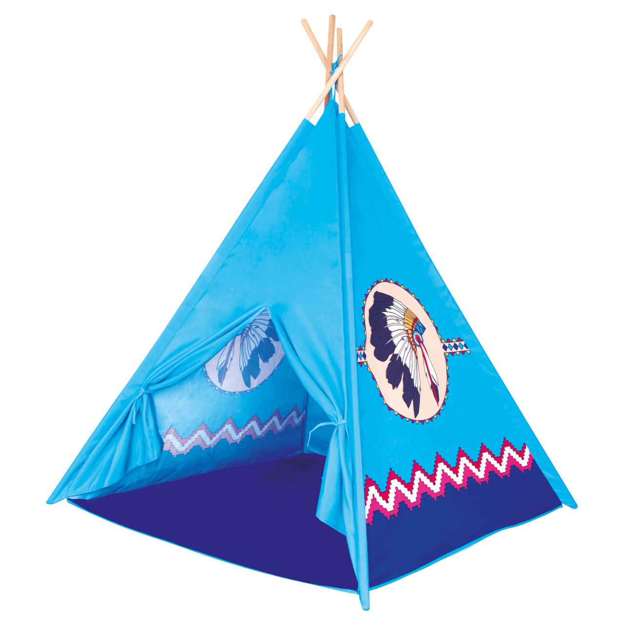 Bino Indiánské týpí modré teepee