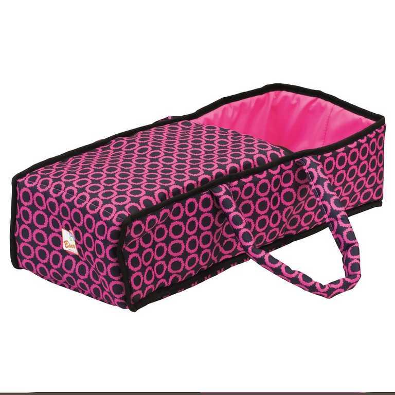 Bino Kočárek velký s taškou růžovočerný