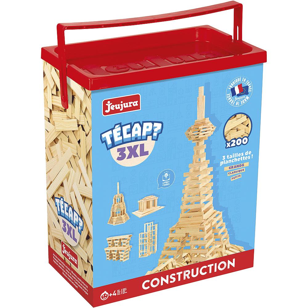 Jeujura Dřevěná stavebnice Técap 3XL 200 dílů