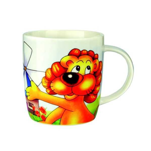 Bino Porcelánový hrneček lev