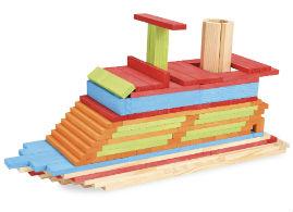 Jeujura Dřevěná stavebnice Técap Color 500 dílů