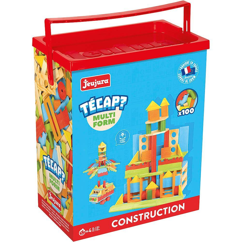 Jeujura Dřevěná stavebnice TECAP multiform 100 dílků