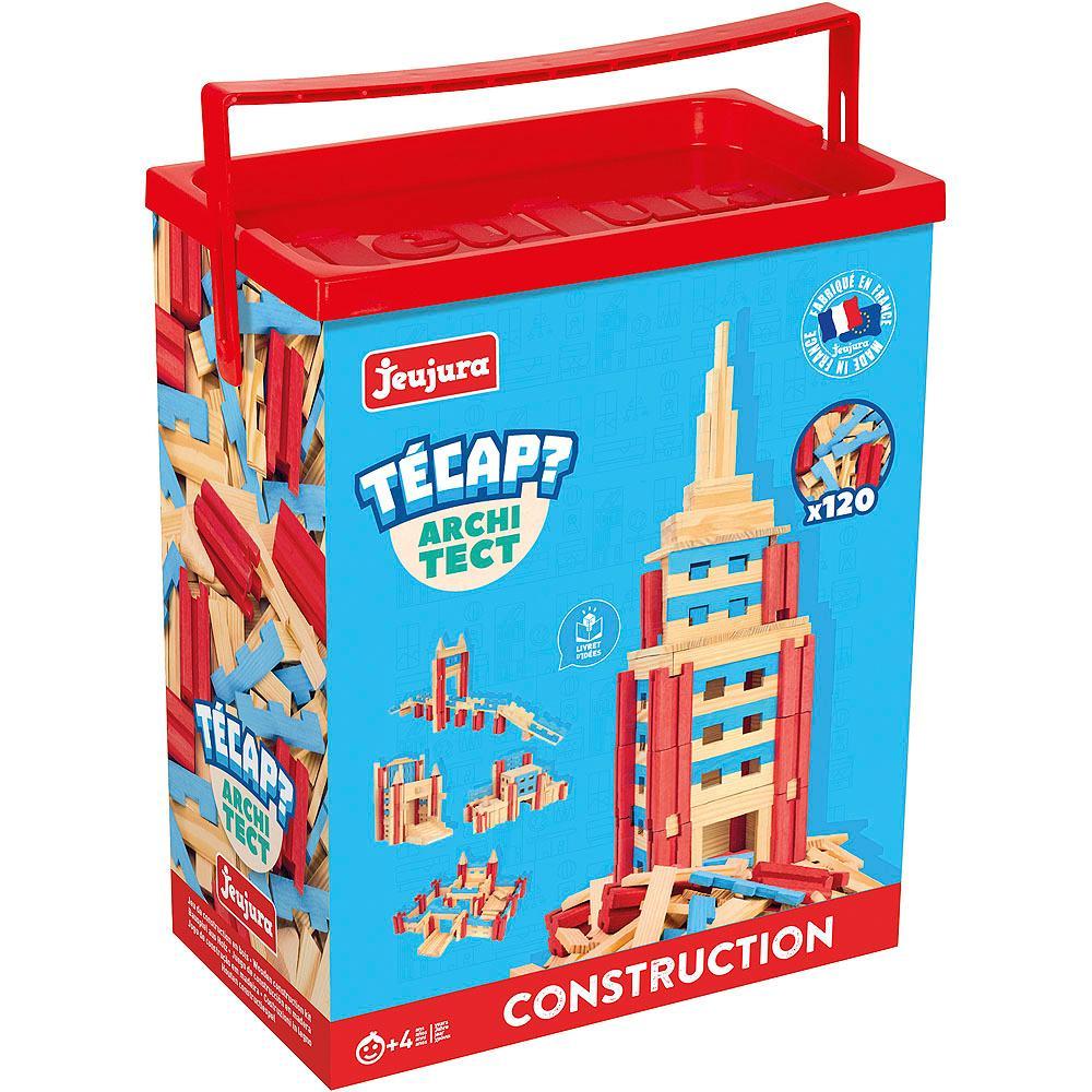 Jeujura Dřevěná stavebnice TECAP architect 120 dílků