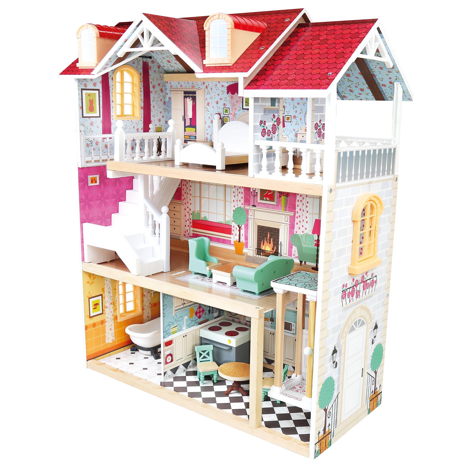 Bino Třípatrový domeček pro panenky