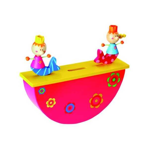 Dřevěné hračky -  Dřevěná pokladnička - Mořská panna