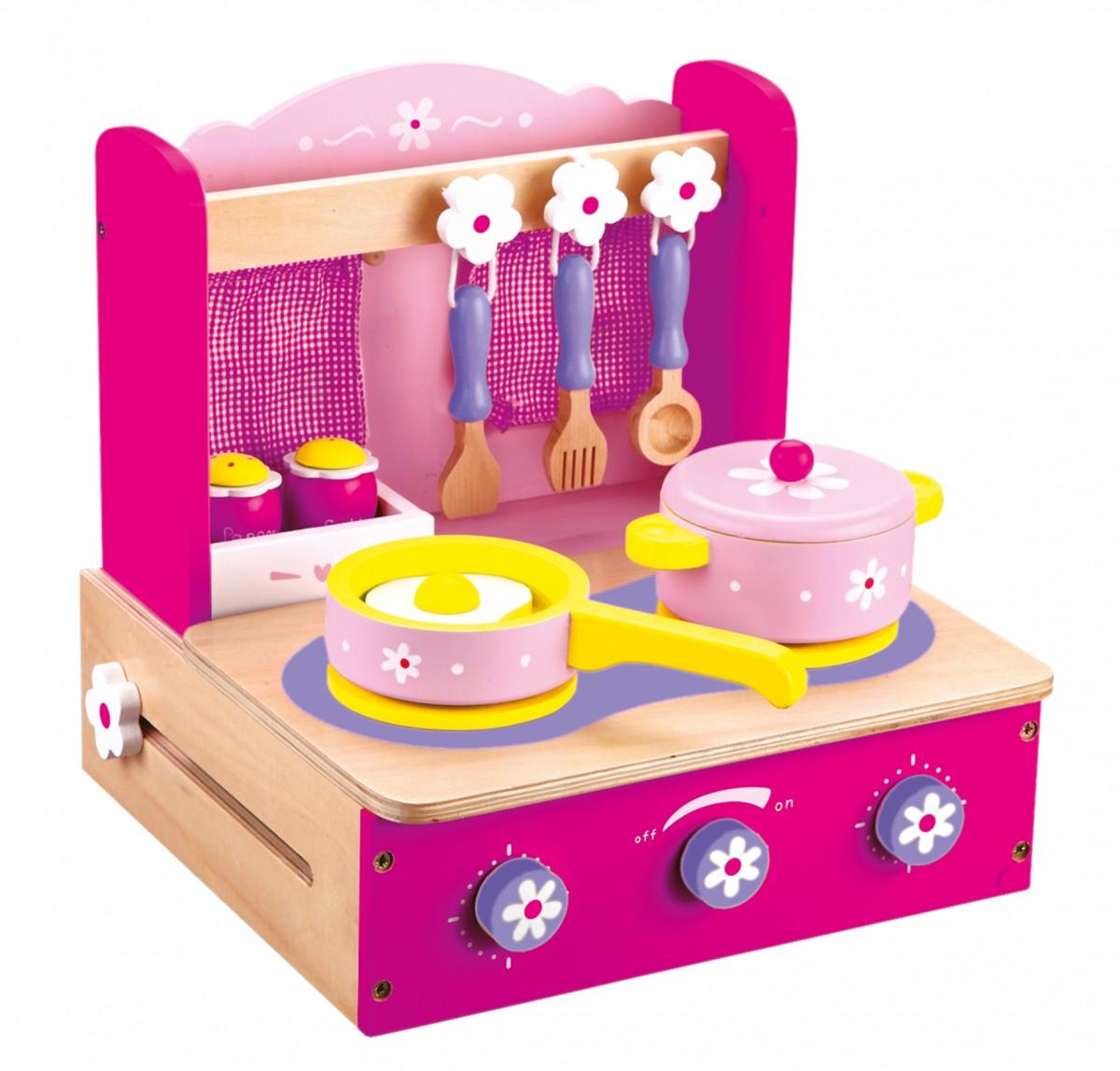 Bino - Dětský vařič s příslušenstvím 10ks růžový