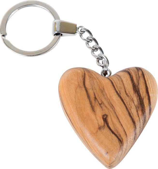 Small Foot Dřevěný přívěšek na klíče srdce
