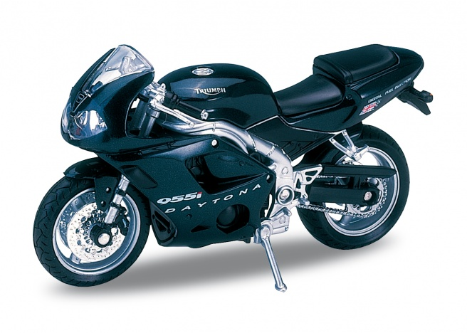 Welly - Motocykl Triumph Daytona 955i (2002) model 1:18 černý