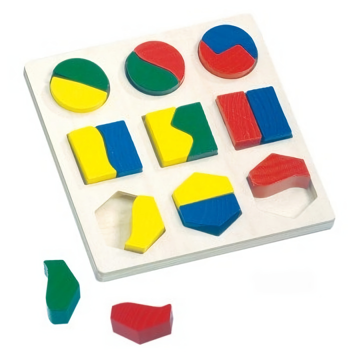 Bino Dřevěné puzzle geometrické tvary