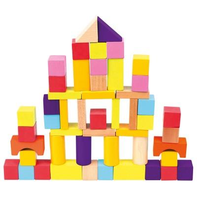 Bino Kostky v kyblíku 50 ks nové barvy