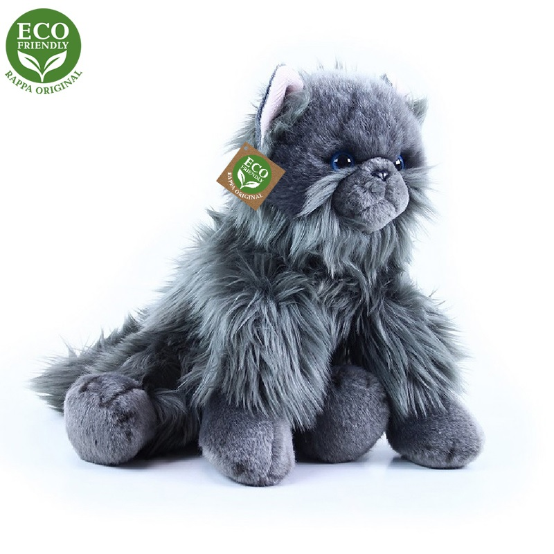 Rappa Plyšová kočka britská sedící 30 cm ECO-FRIENDLY