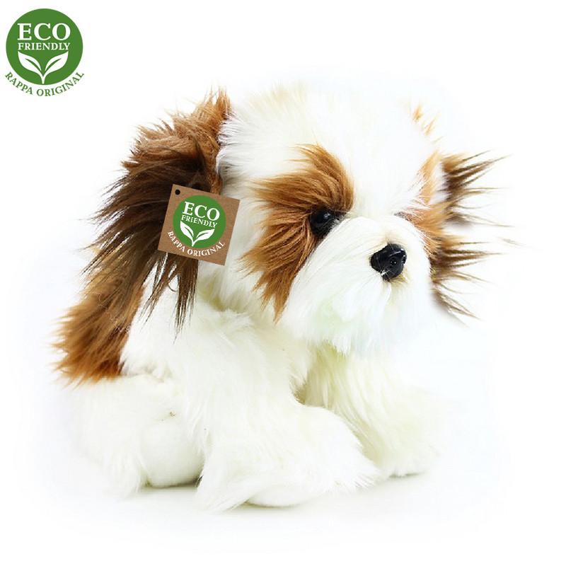 Rappa Plyšový pes shih tzu sedící 28cm ECO-FRIENDLY