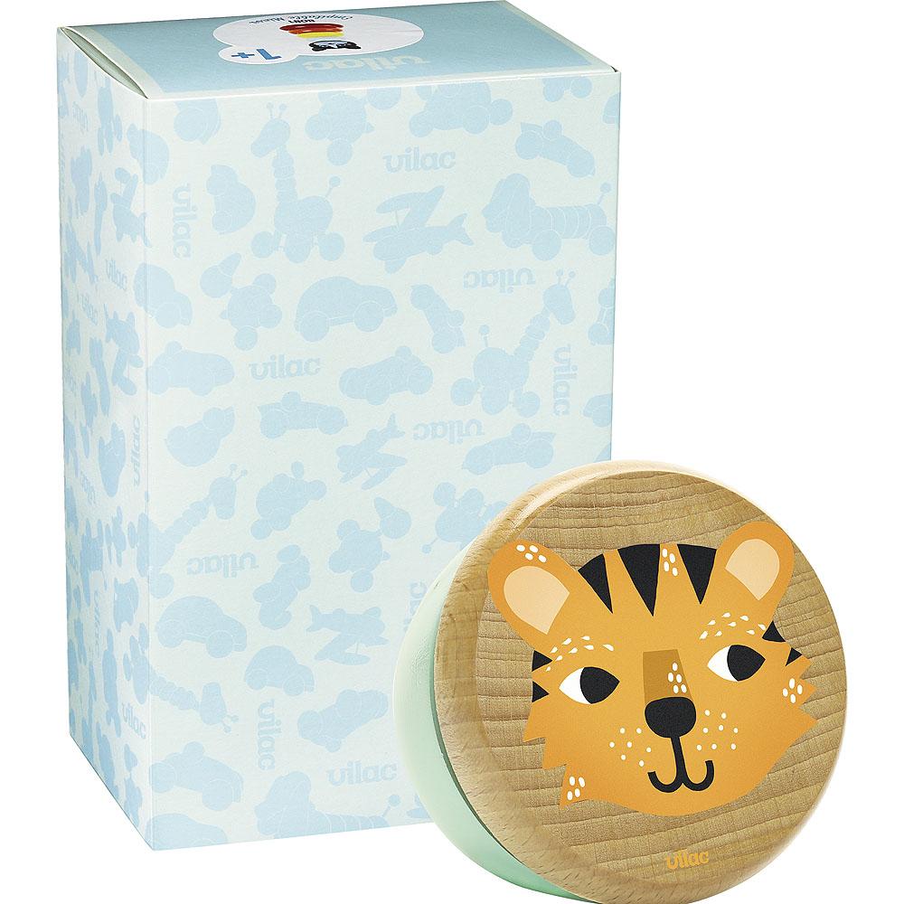 Vilac Dřevěné hrací skříňka tygr