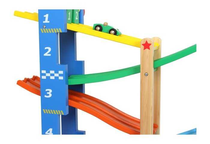 Dřevěné hračky - Dvojitá závodní dráha