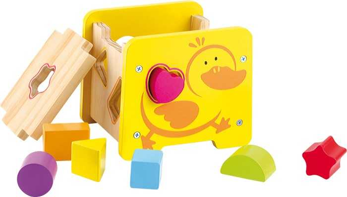 Dřevěná hračka - Motorická kostka Kachna