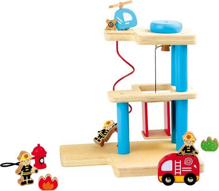 Dřevěné hračky pro kluky - Hasičská stanice