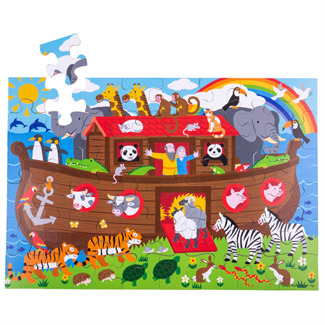 Bigjigs Toys Podlahové puzzle Noemova archa 48dílků