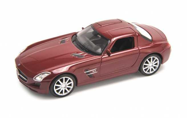 Welly - Mercedes-Benz SLS AMG 1:34 červené