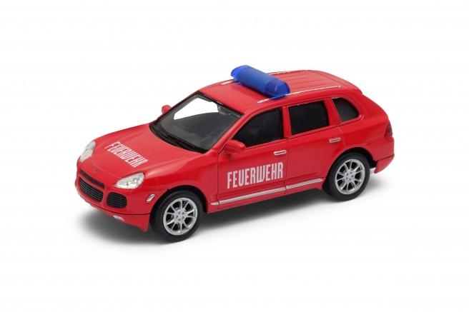 Welly - Porsche Cayenne Turbo Feuwehr 1:34 červené