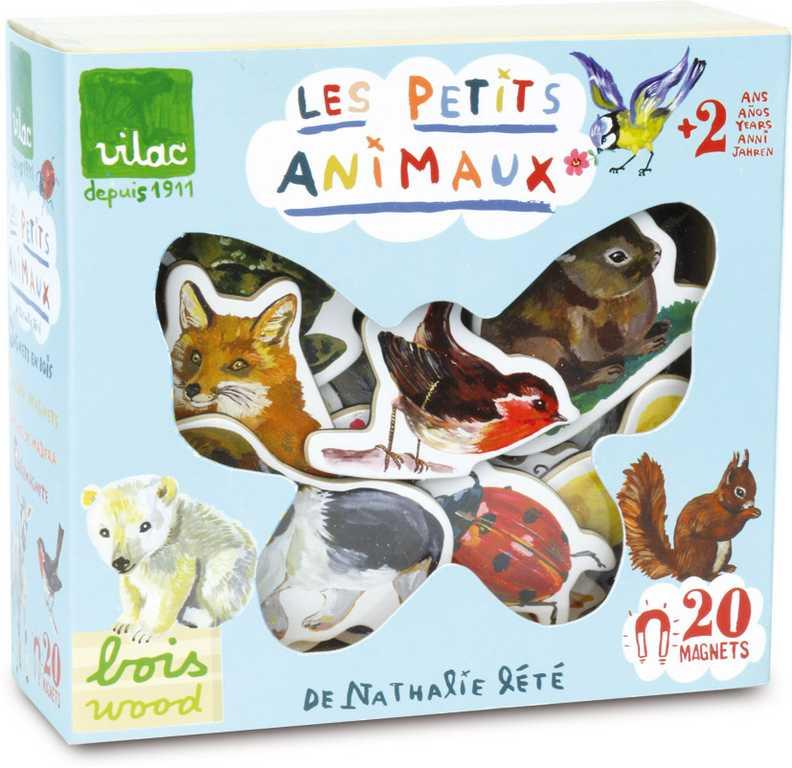 Vilac Dřevěné magnetky zvířata Nathalie Lété 20ks