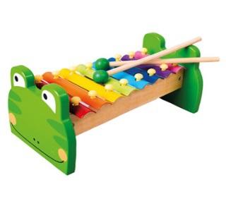 Bino Kovový xylofon žabka