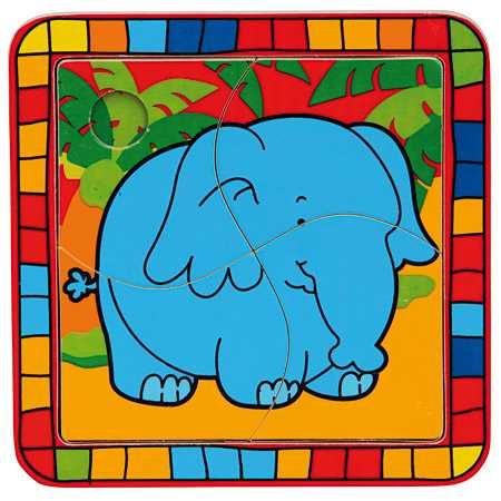 Bino Dřevěné vkládací puzzle slon