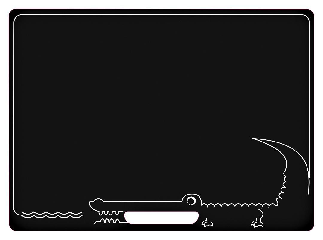 Jeujura Oboustraná tabule s krokodýlem