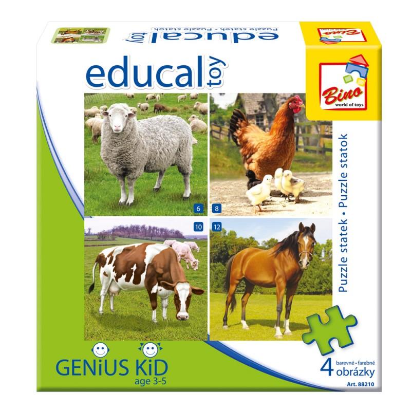 Edukativní hra - Puzzle - Farma
