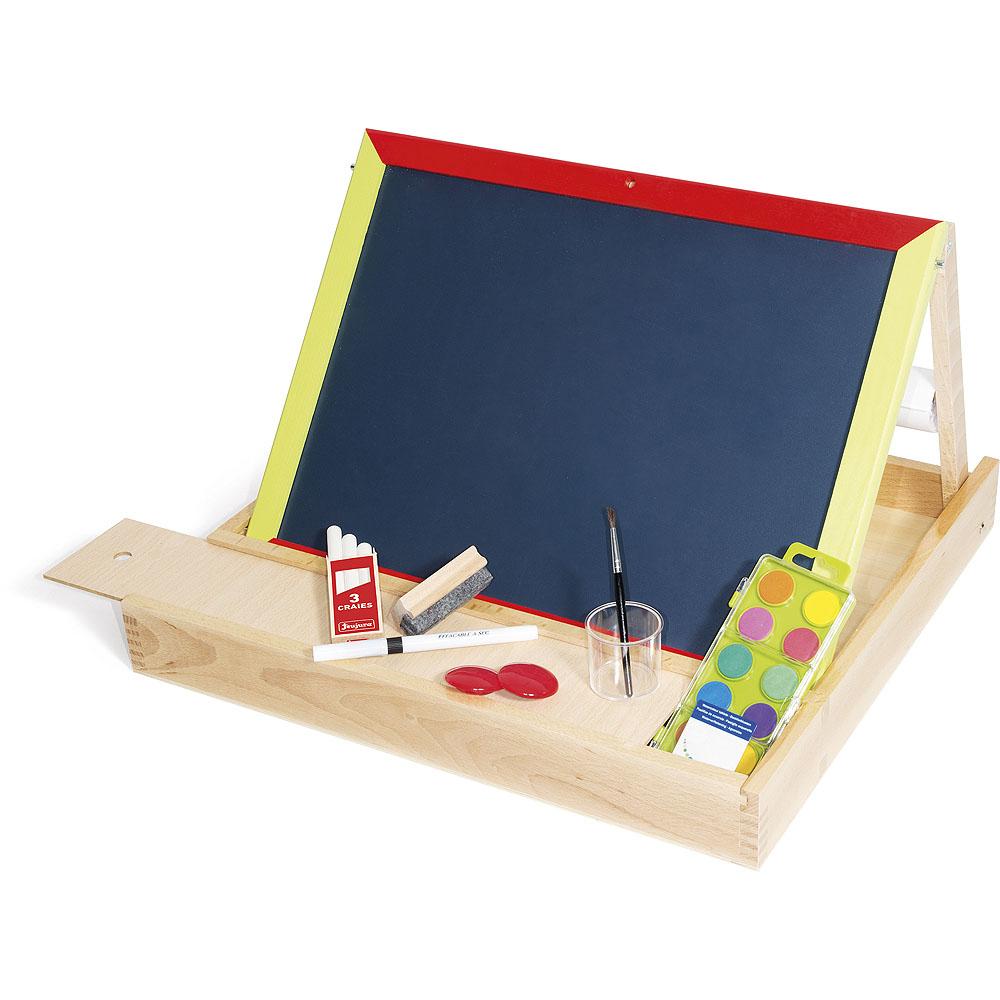 Jeujura Dřevěná multiaktivní stolní tabule 44x30 cm s příslušenstvím