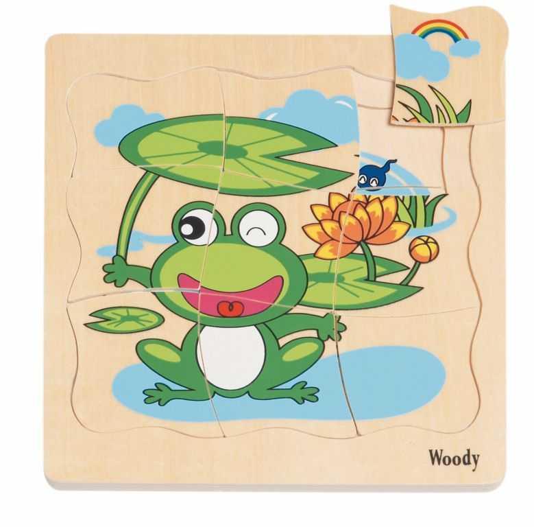 Dřevěné hračky - Puzzle na desceVývoj žáby