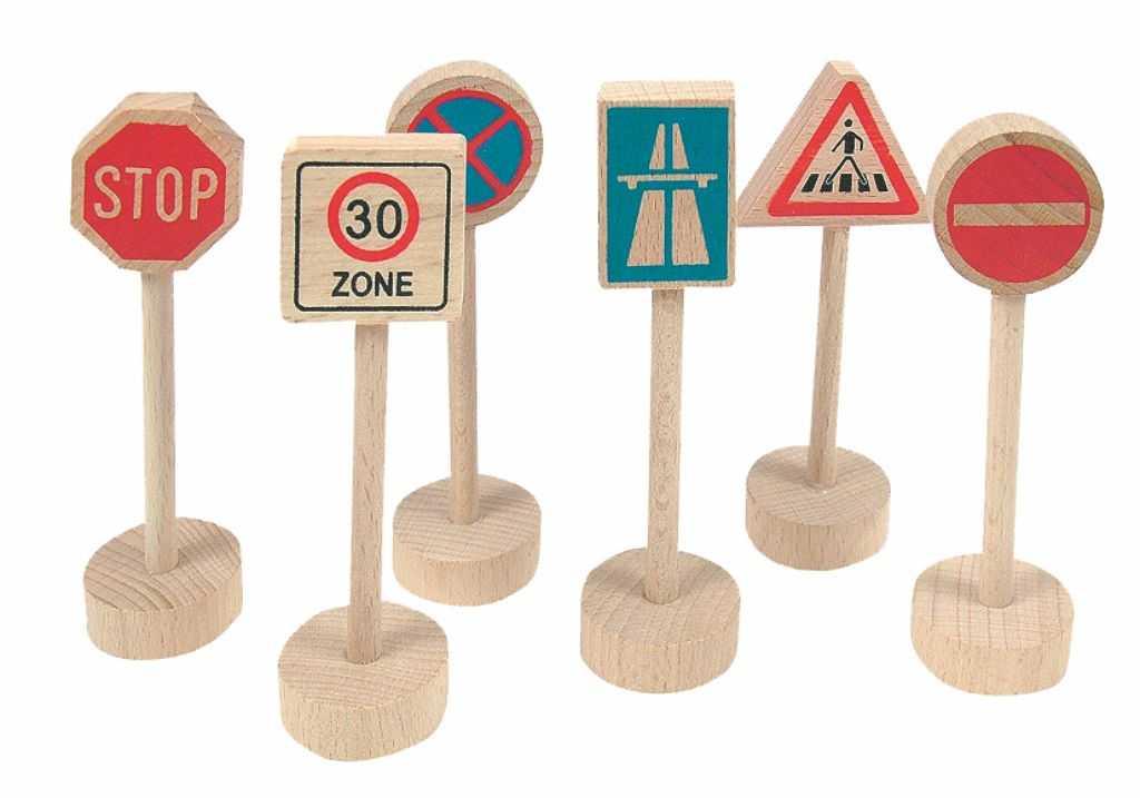 Woody Příslušenství k vláčkodráze dopravní značky 6 dílů