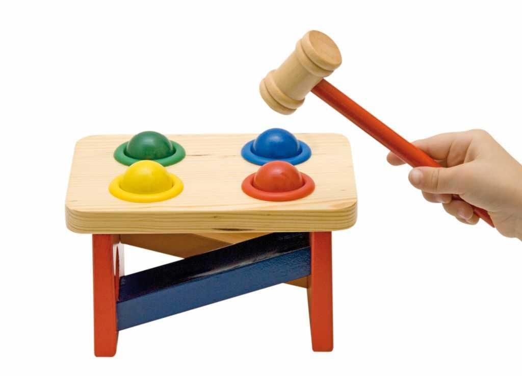 Dřevěné hračky - pro kluky - Zatloukačka s koulemi