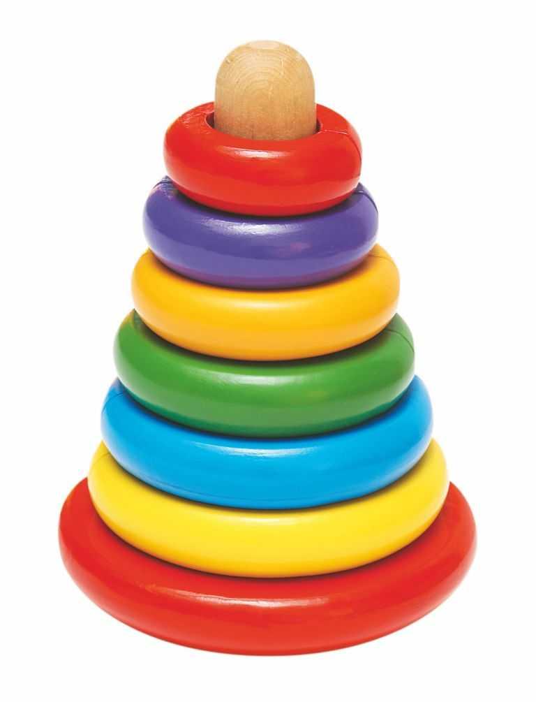 Dřevěné hračky - Magnetická skládací pyramida - Káča