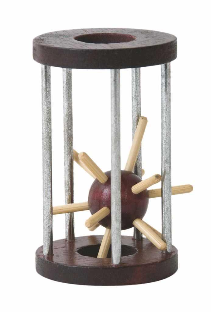 Dřevěné hry -Woody Hlavolam Ježek v kleci