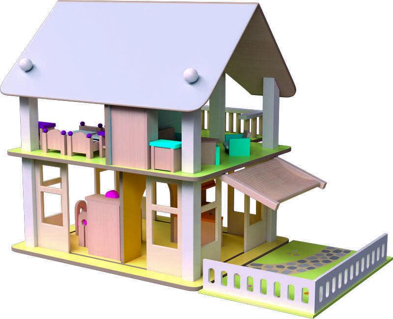 Domeček s balkonem Nancy