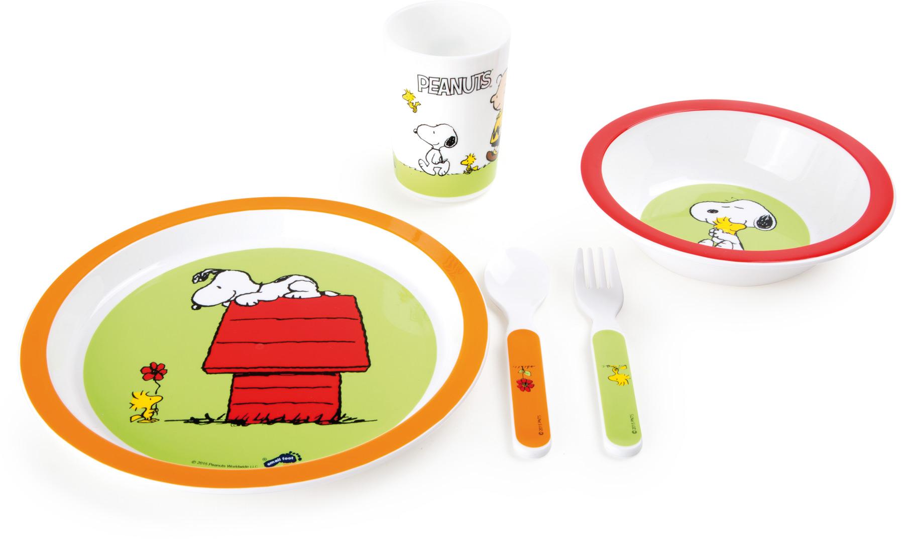 Small Foot Dětská jídelní souprava Peanuts
