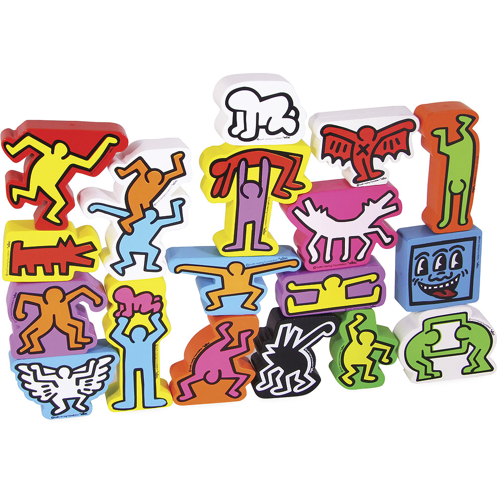 Vilac Skládací postavičky Keith Haring