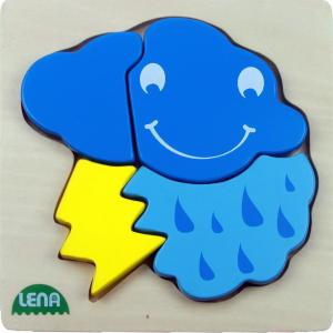Lena Dřevěné puzzle bouřka