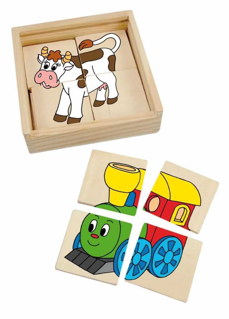 Woody -  Minipuzzle Mašinka v dř. krabičce