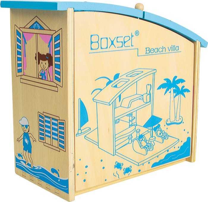 Dřevěná hračka - Chata v kufru