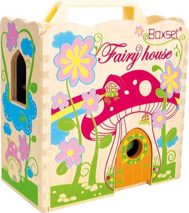 Dřevěná hračka - Vílí dům v kufru