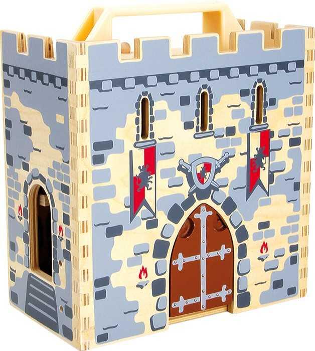Dřevěná hračka - Rytířský hrad v kufru
