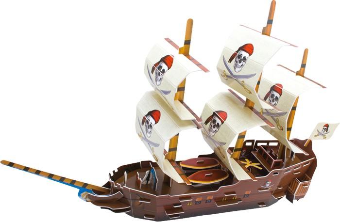 Small Foot Třívrstvé pěnové 3D puzzle pirátská loď mořský svět